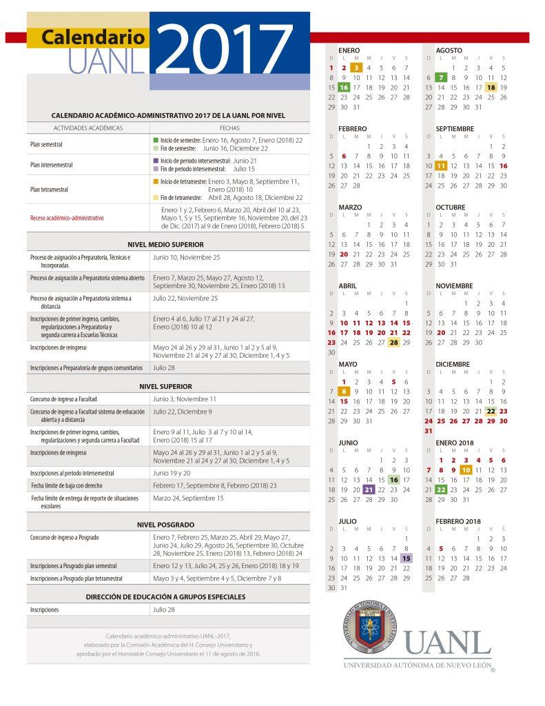Calendario-UANL-2017