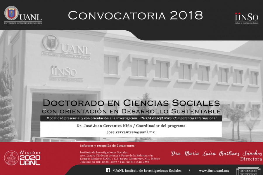 DOCTORADO CONVOCATORIA 2018